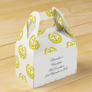 Choose your color anchor nautical themed wedding favour box
