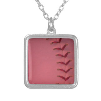 Choose Your Color Baseball - Softball Silver Plated Necklace