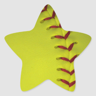 Choose Your Color Baseball - Softball Star Sticker