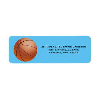 CHOOSE YOUR COLOR Basketball Return Address Labels