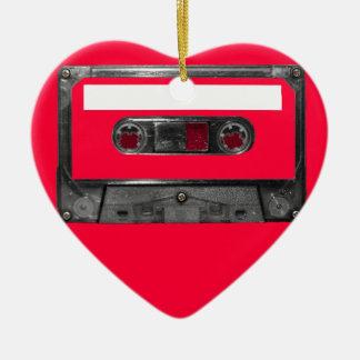Choose Your Color Cassette Ceramic Heart Decoration