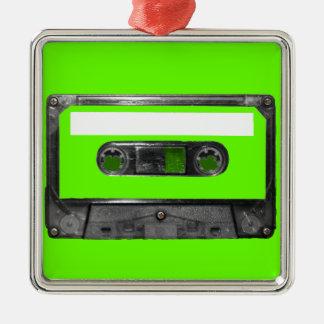Choose Your Color Cassette Silver-Colored Square Decoration