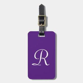 CHOOSE YOUR COLOR Monogram Bag Luggage Tag