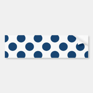 Choose Your Color Polka Dots On White Bumper Sticker