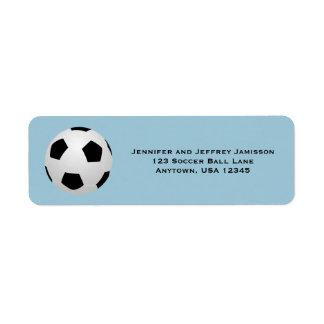 CHOOSE YOUR COLOR Soccer Return Address Labels