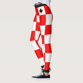 Choose YOUR Colour Canadian Maple Chequered Leggings