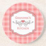 Choose Your Colour Cosy Plaid Grandma's Coaster