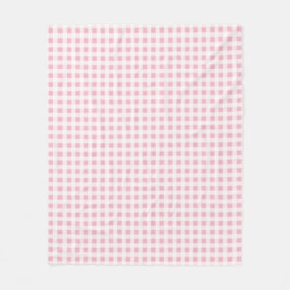 Choose Your Colour Gingham Pattern Fleece Blanket