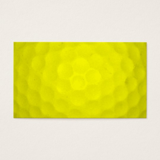 Choose Your Colour Golf Ball Business Card