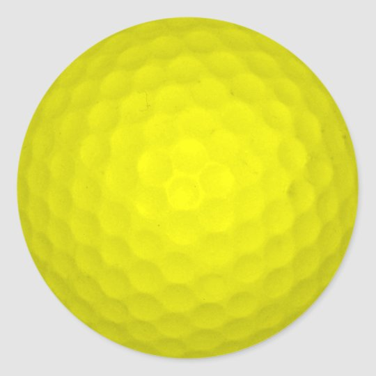 Choose Your Colour Golf Ball Classic Round Sticker