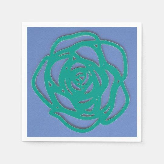 Choose Your Colour Rose on Blue Paper Serviettes