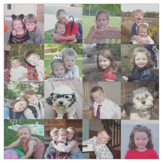 Choose Your Favorite 16 Photos to Make a Collage Fabric