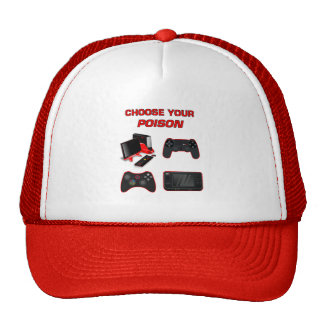 Choose Your Game Gaming White Red For Pro Gamer Cap