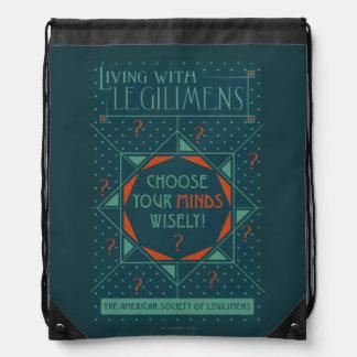 Choose Your Minds Wisely - Legilimens Poster Drawstring Bag