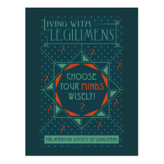 Choose Your Minds Wisely - Legilimens Poster Postcard