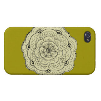 Choose Your Own Color Lace Crochet Flower iPhone 4/4S Cover