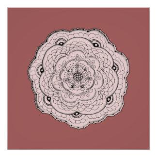 Choose Your Own Color Lacy Crochet Doily Flower Photo Art