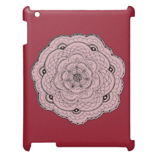 Choose Your Own Color Lacy Crochet Look Flower iPad Case