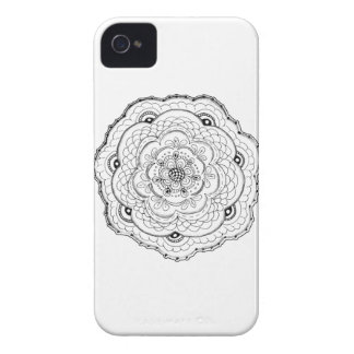 Choose Your Own Color Lacy Crochet Look Flower iPhone 4 Case-Mate Case