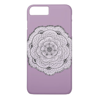 Choose Your Own Color Lacy Crochet Look Flower iPhone 7 Plus Case