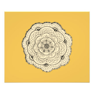Choose Your Own Color Lacy Crochet Look Flower Photographic Print
