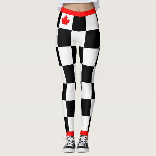 Choose your Own Colour Canadian Maple Chequered Leggings