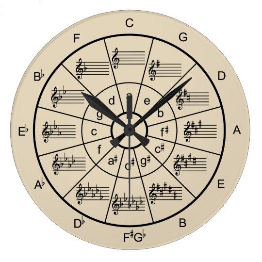 Choose your own colour musicians large clock