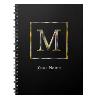 Choose Your Own Diamond Cut Metal Initial Notebook