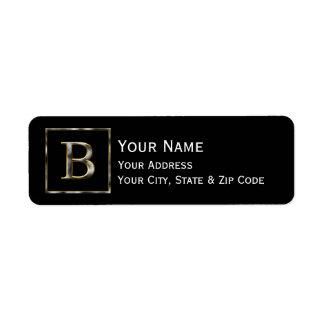 Choose Your Own Diamond Cut Metal Initial Return A Return Address Label