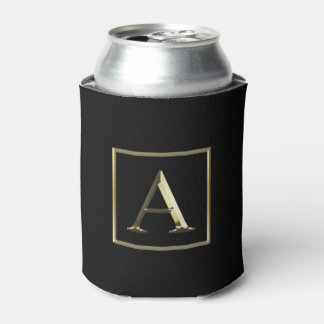 Choose Your Own Shiny Gold Monogram Can Cooler