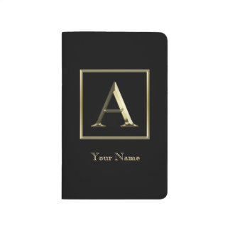 Choose Your Own Shiny Gold Monogram Journal