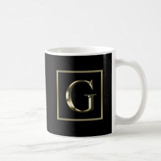 Choose Your Own Shiny Gold Monogram Mug