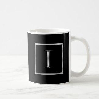 Choose Your Own Shiny Silver Monogram Mug