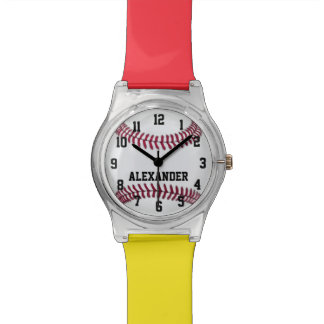 Choose Your Team Colors, Personalized Baseball Watch