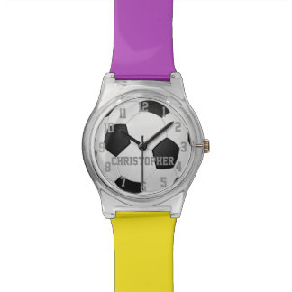 Choose Your Team Colors, Personalized Soccer Ball Watch