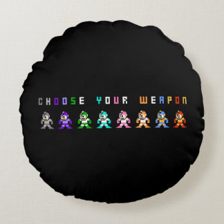 Choose Your Weapon 2 Round Cushion