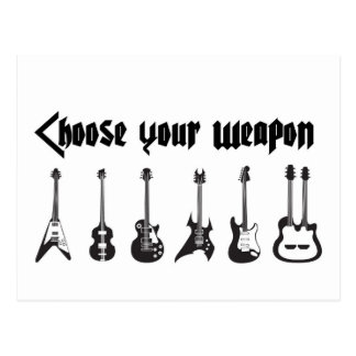 Choose Your Weapon Postcard