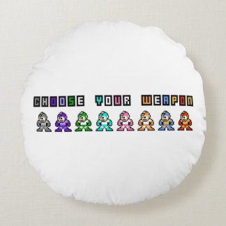 Choose Your Weapon Round Cushion