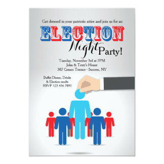 Choosing A Candidate Election Party Invitation