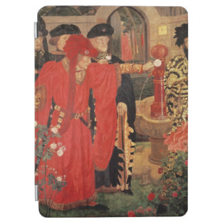 Choosing the Red and White Roses in Temple iPad Air Cover