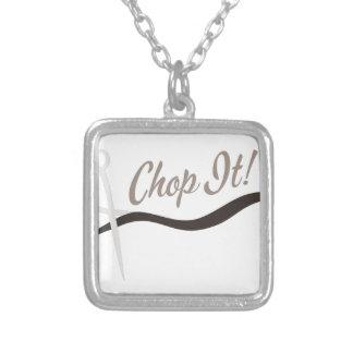Chop It Square Pendant Necklace