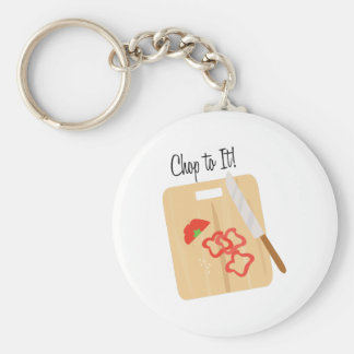 Chop To It! Basic Round Button Key Ring