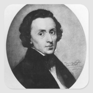 Chopin, 1858 square sticker