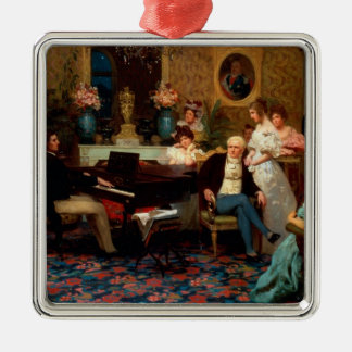 Chopin Playing the Piano Christmas Ornament