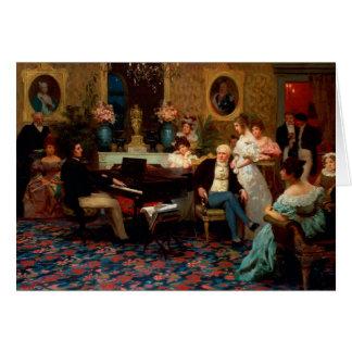 Chopin Playing the Piano Greeting Card