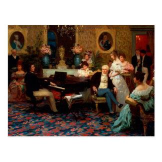 Chopin Playing the Piano Postcard