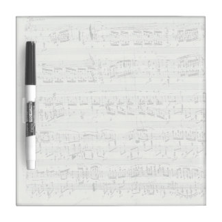 Chopin Polonaise Piano Music Manuscript Dry Erase Board
