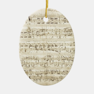 Chopin Sheet Music Christmas Ornament