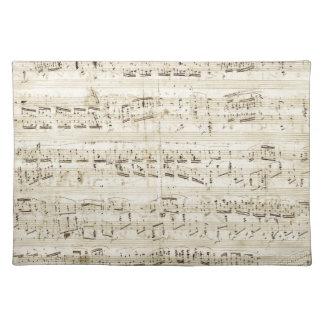Chopin Sheet Music Placemat
