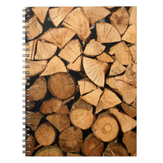 Chopped and ready for winter spiral notebook